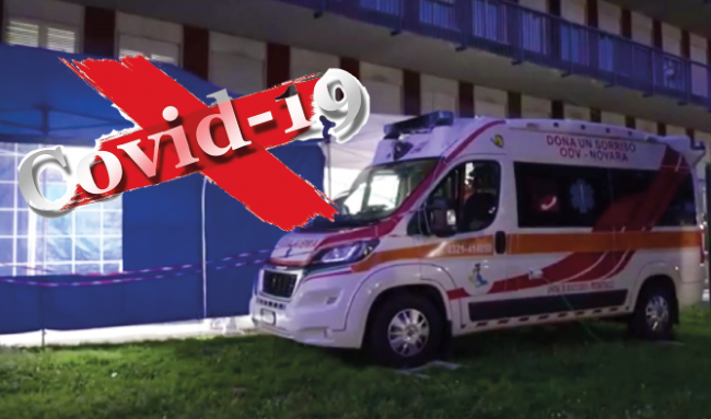 covid ambulanza tenda blu